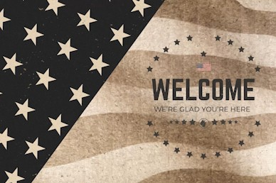 Memorial Day Welcome Church Motion Graphic