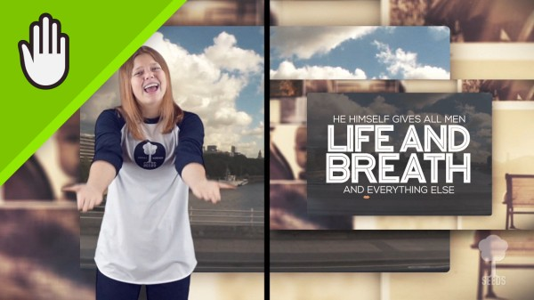 Life And Breath Kids Worship Video for Kids Hand Motions Split Screen