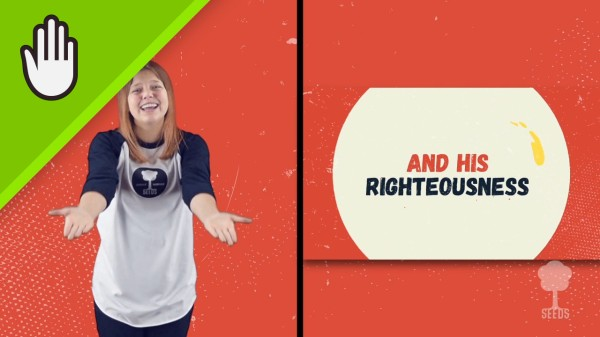 Seek First Kids Worship Video for Kids Hand Motions Split Screen