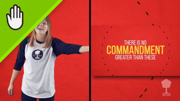 Greatest Commandment Kids Worship Video for Kids Hand Motions Split Screen
