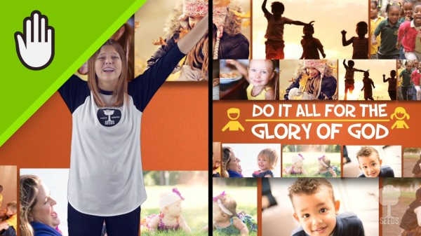 Whatever You Do Kids Worship Video for Kids Hand Motions Split Screen