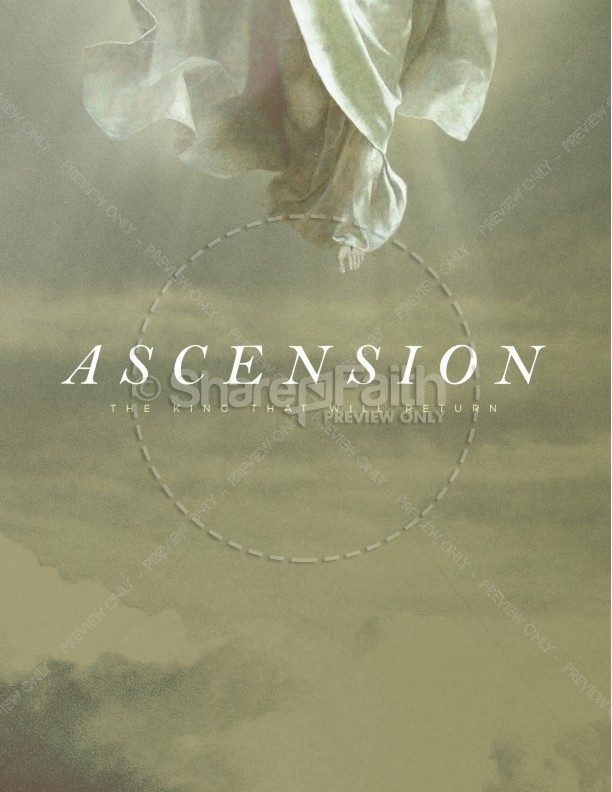 Ascension Day Clouds Church Flyer