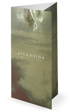 Ascension Day Clouds Church Trifold Bulletin