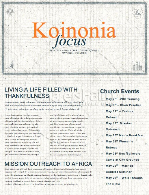 Life Hacks Church Monthly Newsletter