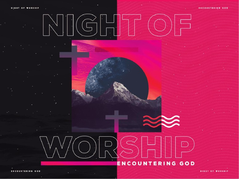 Night of Worship Church Event Powerpoint Free Trial