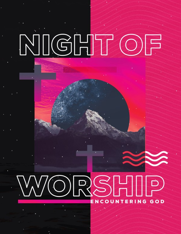 Night of Worship Church Event Flyer Free Trial
