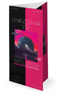 Night of Worship Church Event Trifold Bulletin Free Trial