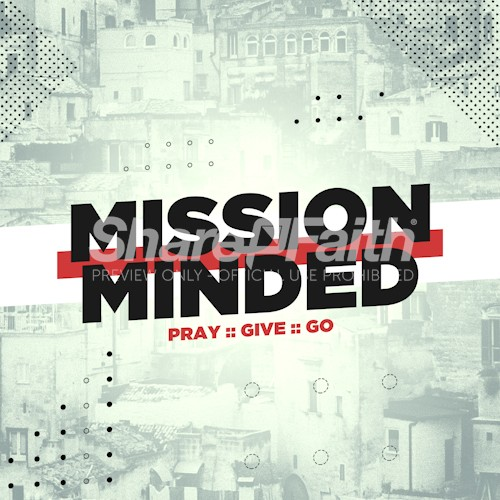 Mission Minded Church Social Media Graphic Free Trial