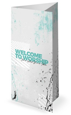Baptism Sunday Church Trifold Bulletin Graphic Free Trial