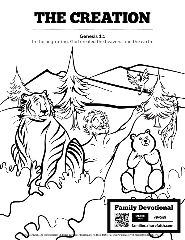 The Creation Story Sunday School Coloring Pages Free Trial