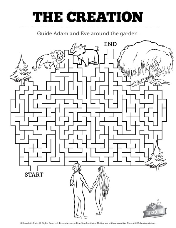 The Creation Story Bible Maze Activity Free Trial