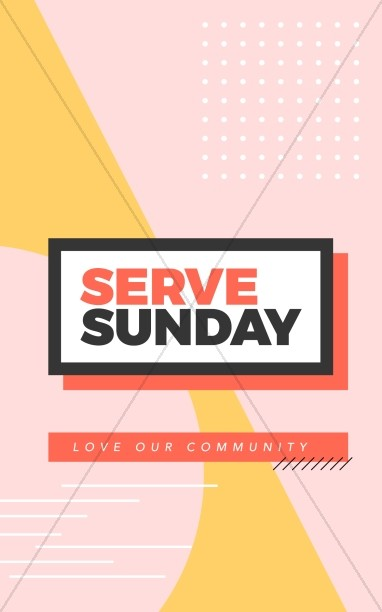 Serve Sunday Church Bifold Bulletin