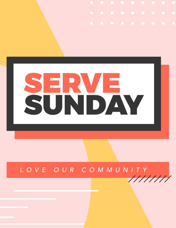 Serve Sunday Church Flyer