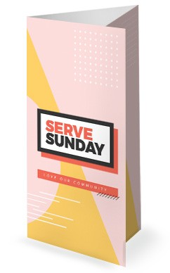 Serve Sunday Church Trifold Bulletin