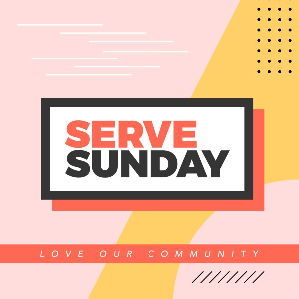 Serve Sunday Social Media Graphic