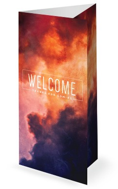 Pentecost Red Clouds Church Trifold Bulletin