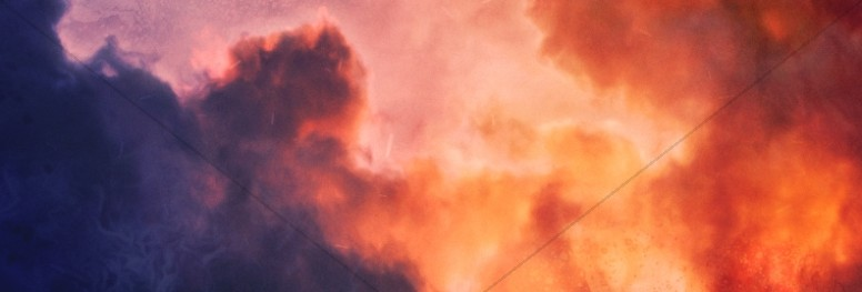 Pentecost Red Clouds Church Website Banner