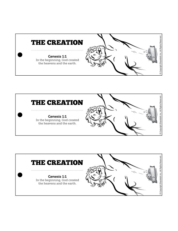 The Creation Story Bible Bookmarks Free Trial