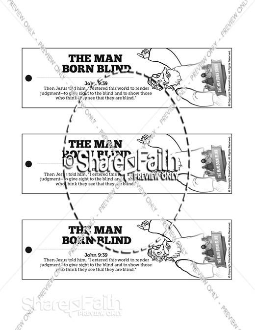 John 9 The Man Born Blind Bible Bookmarks