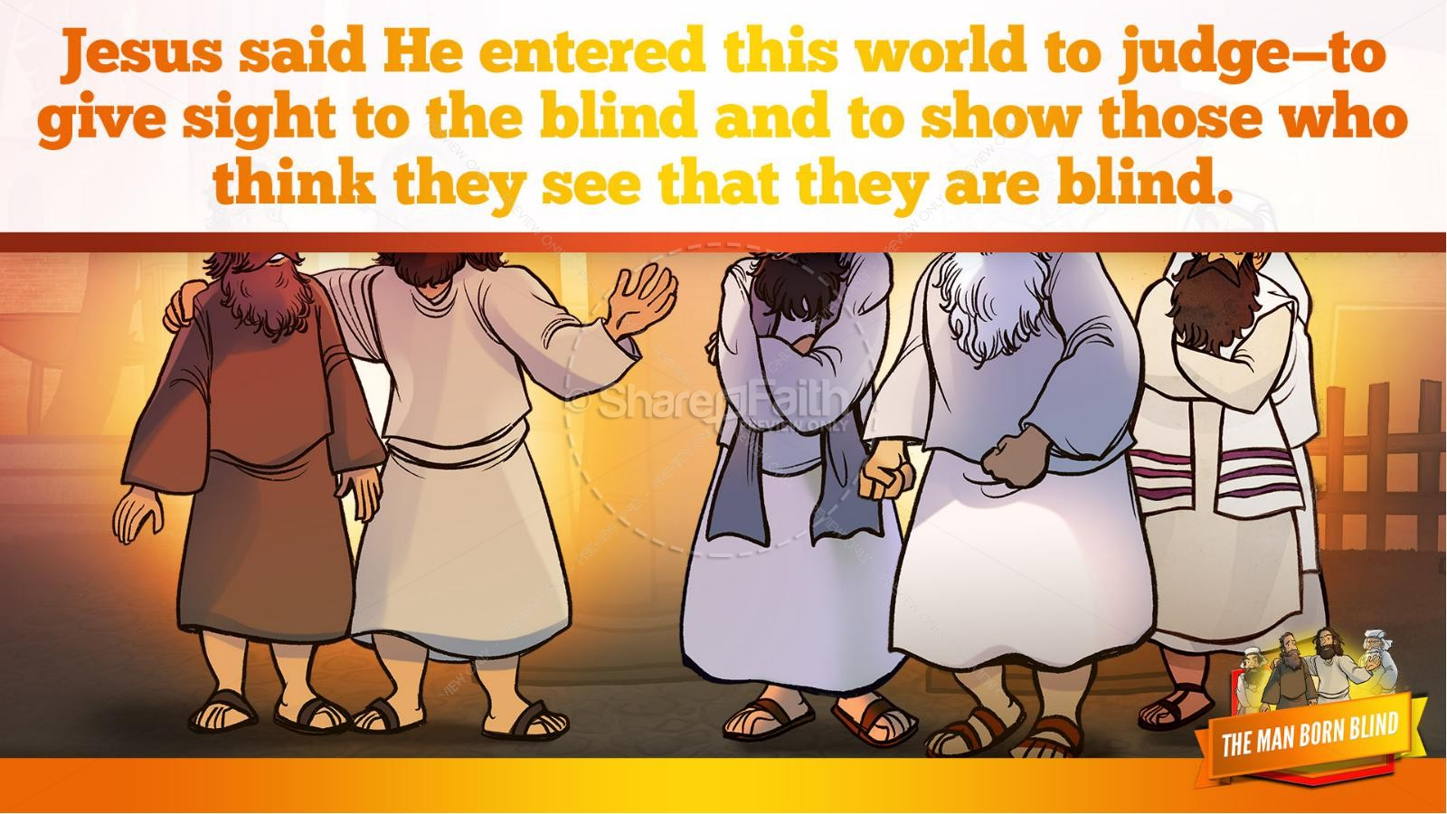 John 9 The Man Born Blind Kids Bible Story