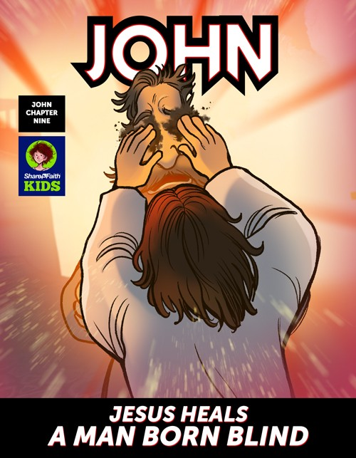 John 9 The Man Born Blind Digital Comic