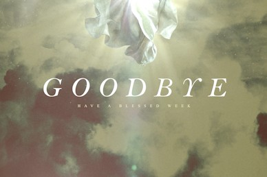 Ascension Day Clouds Goodbye Church Motion Graphic