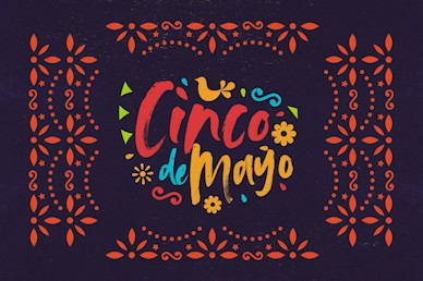 Cinco De Mayo Purple Title Church Motion Graphic