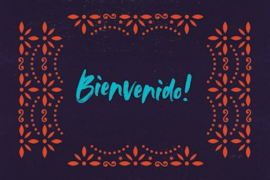 Cinco De Mayo Purple Welcome Church Motion Graphic
