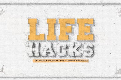 Life Hacks Title Church Motion Graphic