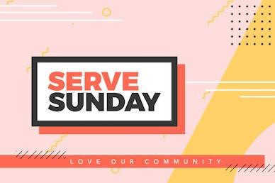Serve Sunday Title Church Motion Graphic