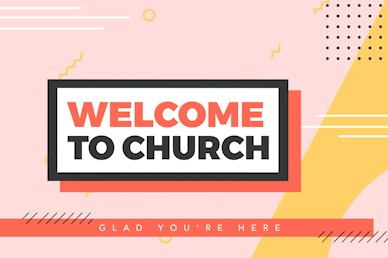 Serve Sunday Welcome Church Motion Graphic