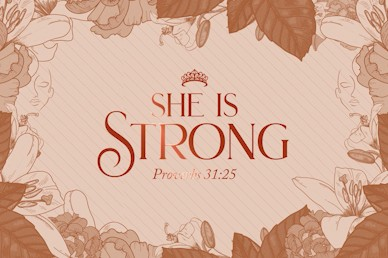 She Is Strong Title Church Motion Graphic
