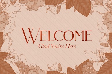 She Is Strong Welcome Church Motion Graphic