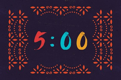 Cinco De Mayo Purple Countdown Church Motion Graphic