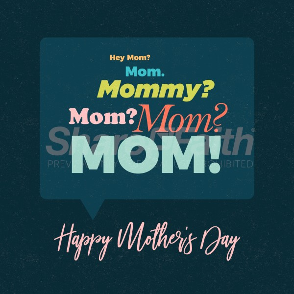 Hey Mom Mother's Day Social Media Graphic
