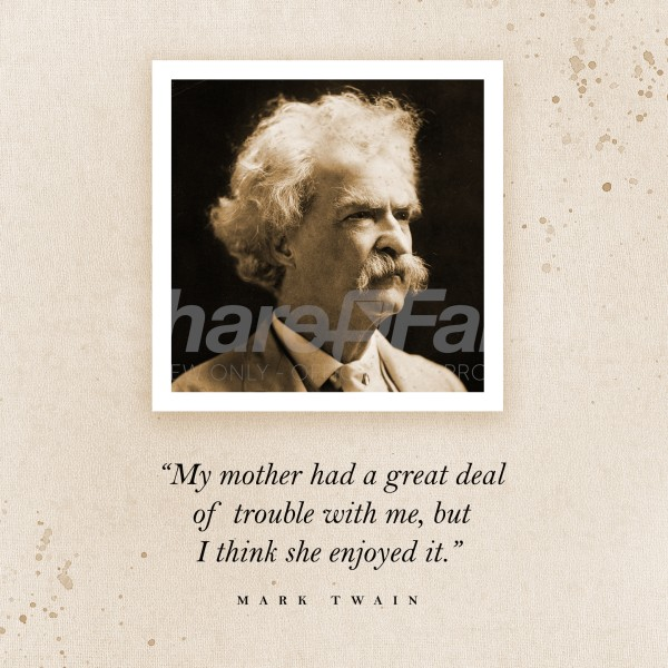 Mark Twain Mother's Day Quote Social Media Graphic