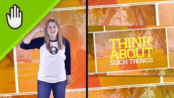 Think About It Kids Worship Video for Kids Hand Motions Split Screen
