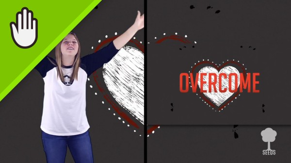 Take Heart Kids Worship Video for Kids Hand Motions Split Screen