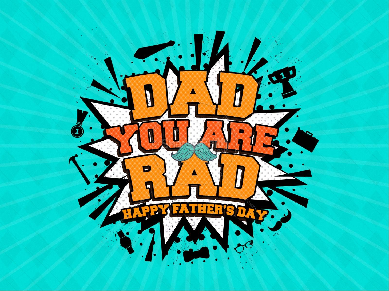 Rad Dad Father's Day Church PowerPoint