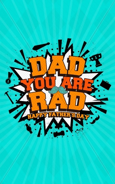 Rad Dad Father's Day Church Bifold Bulletin