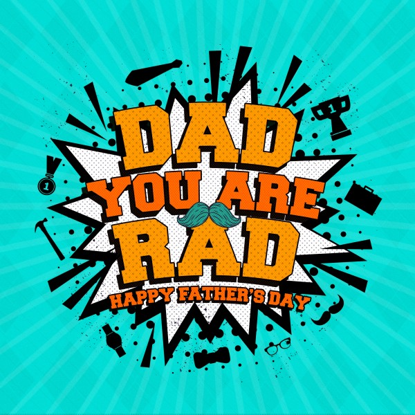 Rad Dad Father's Day Social Media Graphic
