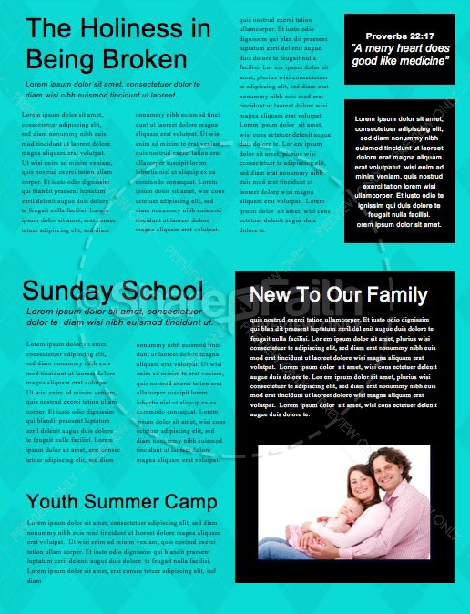 Rad Dad Father's Day Church Newsletter