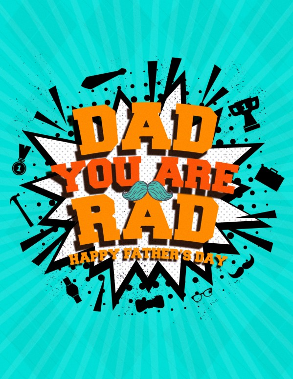 Rad Dad Father's Day Church Flyer