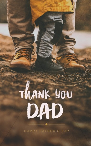 Thank You Dad Shoes Church Bifold Bulletin