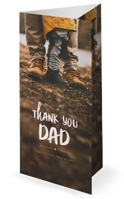 Thank You Dad Shoes Trifold Church Bulletin