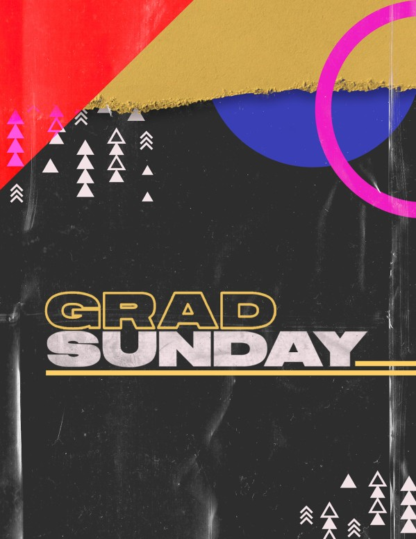 Grad Sunday Church Media Flyer