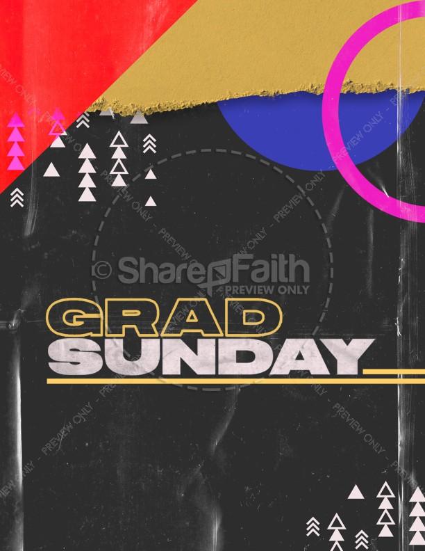 Grad Sunday Church Media Flyer