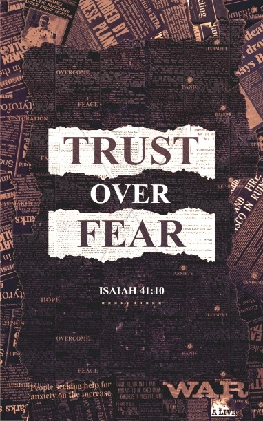 Trust Over Fear Church Bifold Bulletin