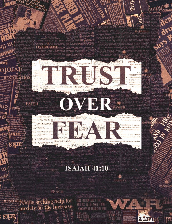 Trust Over Fear Church Flyer