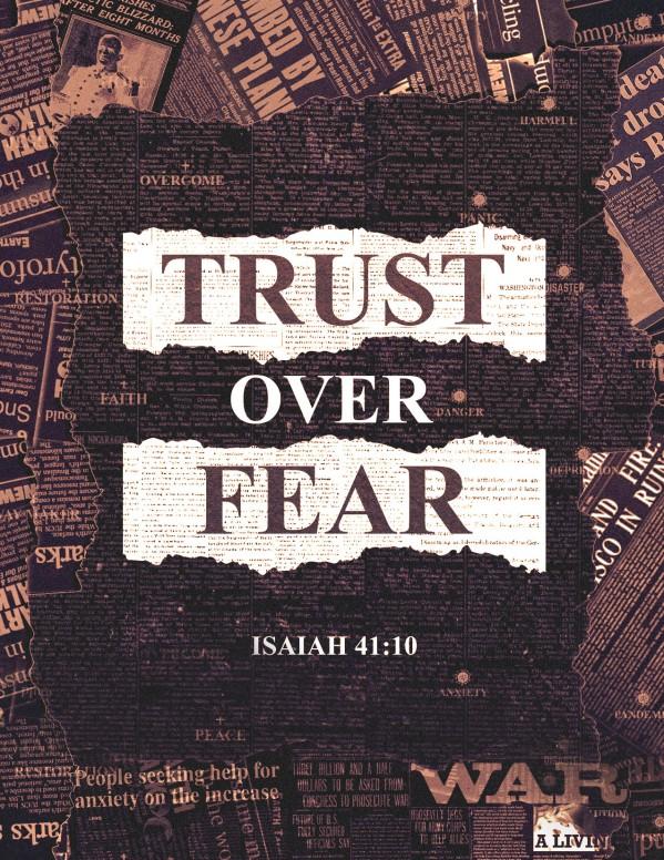 Trust Over Fear Church Flyer